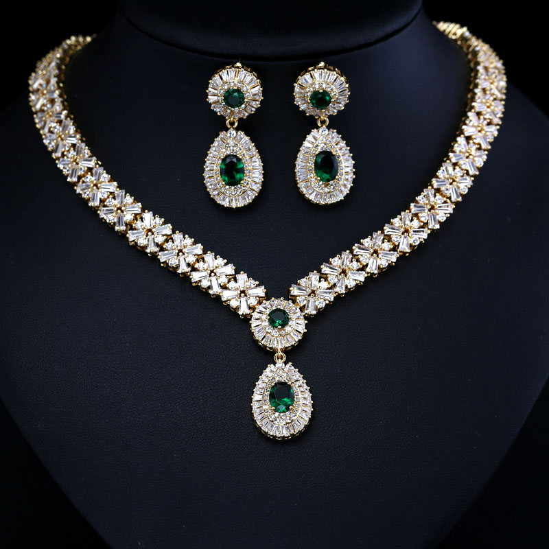 style wedding bride vintage white sets diamond gt for cz pics big earrings necklace gold cubic and luxury shape bridal jewelry plated elegant