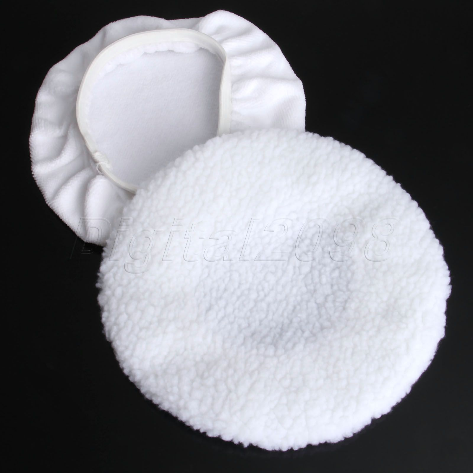 Image 4 - Yetaha 2Pair 23cm Soft Wool Car Polishing Bonnet Buffer Pads For 9inch 10inch Car Polisher Waxing Auto Polish Sponge Cover Pad-in Sponges, Cloths & Brushes from Automobiles & Motorcycles