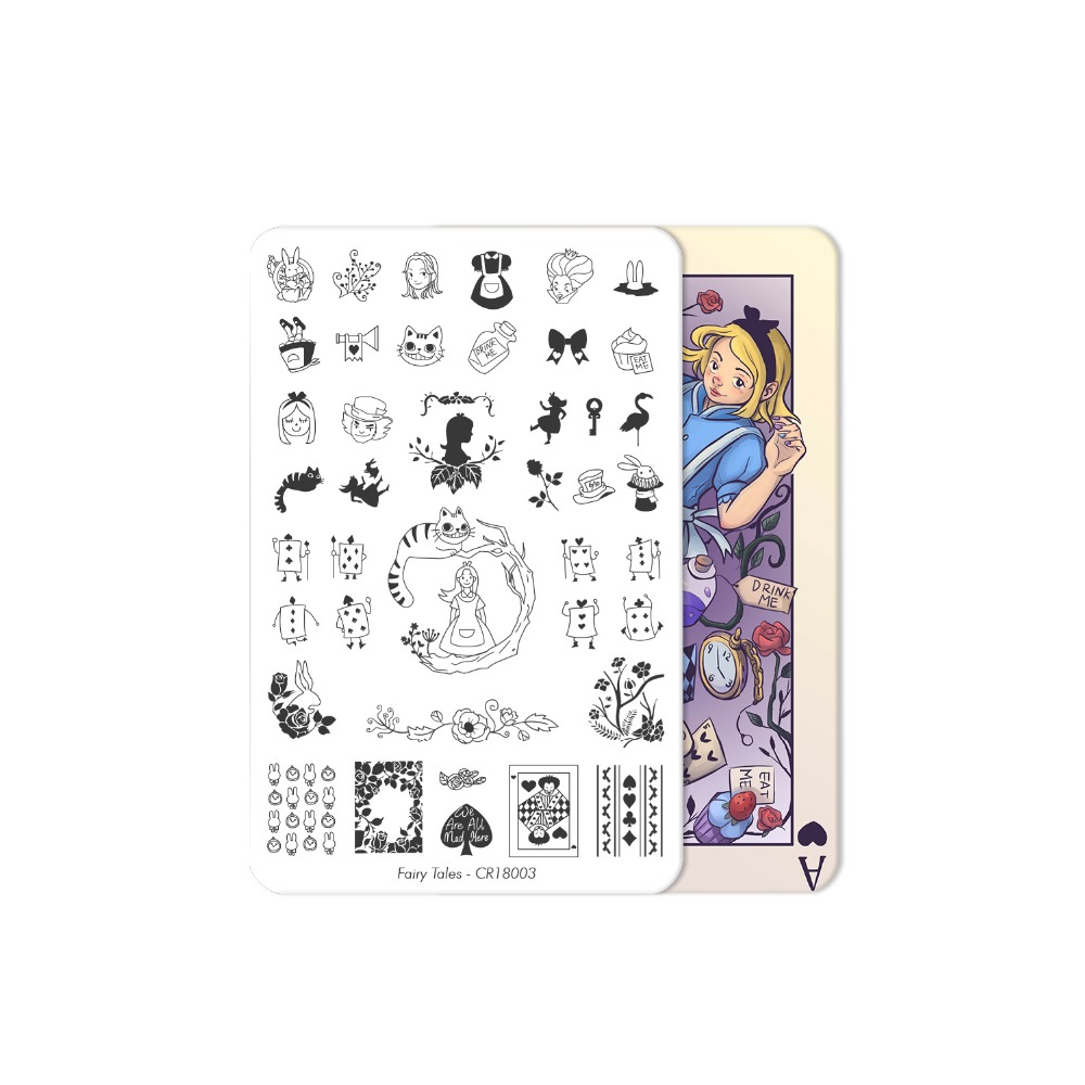 CICI SISI China Style Nail Art Stamping Plates Stamping Stamp Template Accessories Fairy Tales