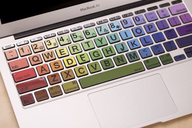 Free shipping removable diy colorfu big size words palette waterproof and dustproof keyboard stickers for computer