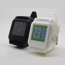 New Fashion Mp4 Player Watch White and Black LCD Digital Sports Alarm Clock With 4GB Memory Music Player
