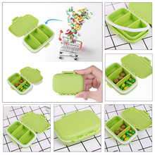 3 Grids Portable Travel Pill Box Plastic Jewelry Earring Beads Nail Art Rhinestone Decorations Storage Holder Case Container