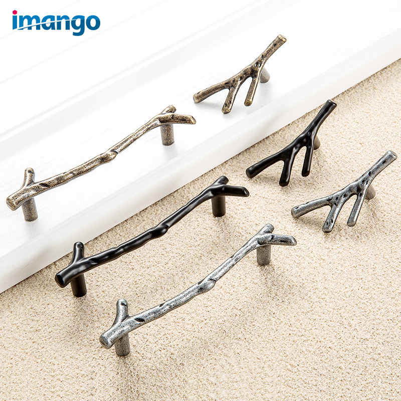 Metal Branches Shape Handles Furniture Accessory Kitchen Table Cabinet Knob Give Screws Exterior Door Handle Drawer Pull Brand entrance door handle solid wood pull handles pa 377 l300mm for entry front wooden doors