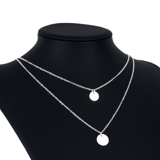 Bohemian Round  Pendant Necklace  Layered Jewelry  4