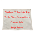 DIY Design Square Napkin Dinner Table Cotton Placemat Creative Linen Materials Print Customized Living Room Decor For Table Bowl