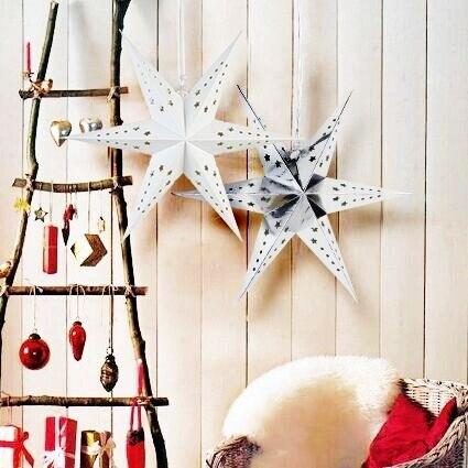 1 шт. бумажный фонарь со звёздами с 6 угол декор окна довольно бумага украшения свадьба день рождения душ Nursary Рождество дерево декор