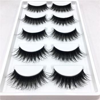 5 Pairs  Women Makeup 1.7cm False Eyelashes Long Natural Soft Eye Lashes Extension Beauty False Eyelashes