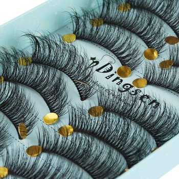 10 Pairs 3D Soft Faux Mink Hair False Eyelashes Natural Messy Eyelash Crisscross Wispy Fluffy Lashes Extension Eye Makeup Tools 1