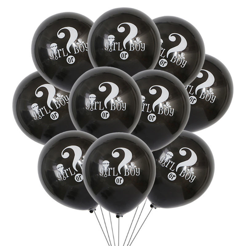 10 Stücke Sie Oder Er Brief Luftballons Dekoration Partei Liefert Party Dekoration Cartoon Hüte