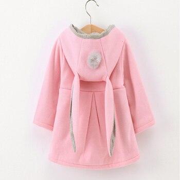 Коллекция 2019 года, весенне-осенние куртки для маленьких девочек детская одежда модные детские пальто теплая верхняя одежда с капюшоном и ми... >> gu juhua Store