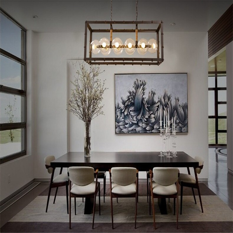 Excellent Glass Ball Pendant Lights Vintage Art Deco Suspension Lamp Bar Living Room Drop Light Luminaire With For Dining Table