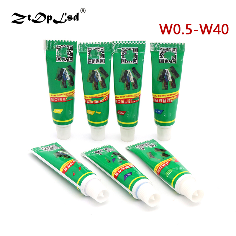 ZtDpLsd 1Pcs W0.5-w40 Diamond Abrasive Paste Needle Tube Grinding Polishing Lapping Compound Glass Metal Tool Jade Amber Buffing