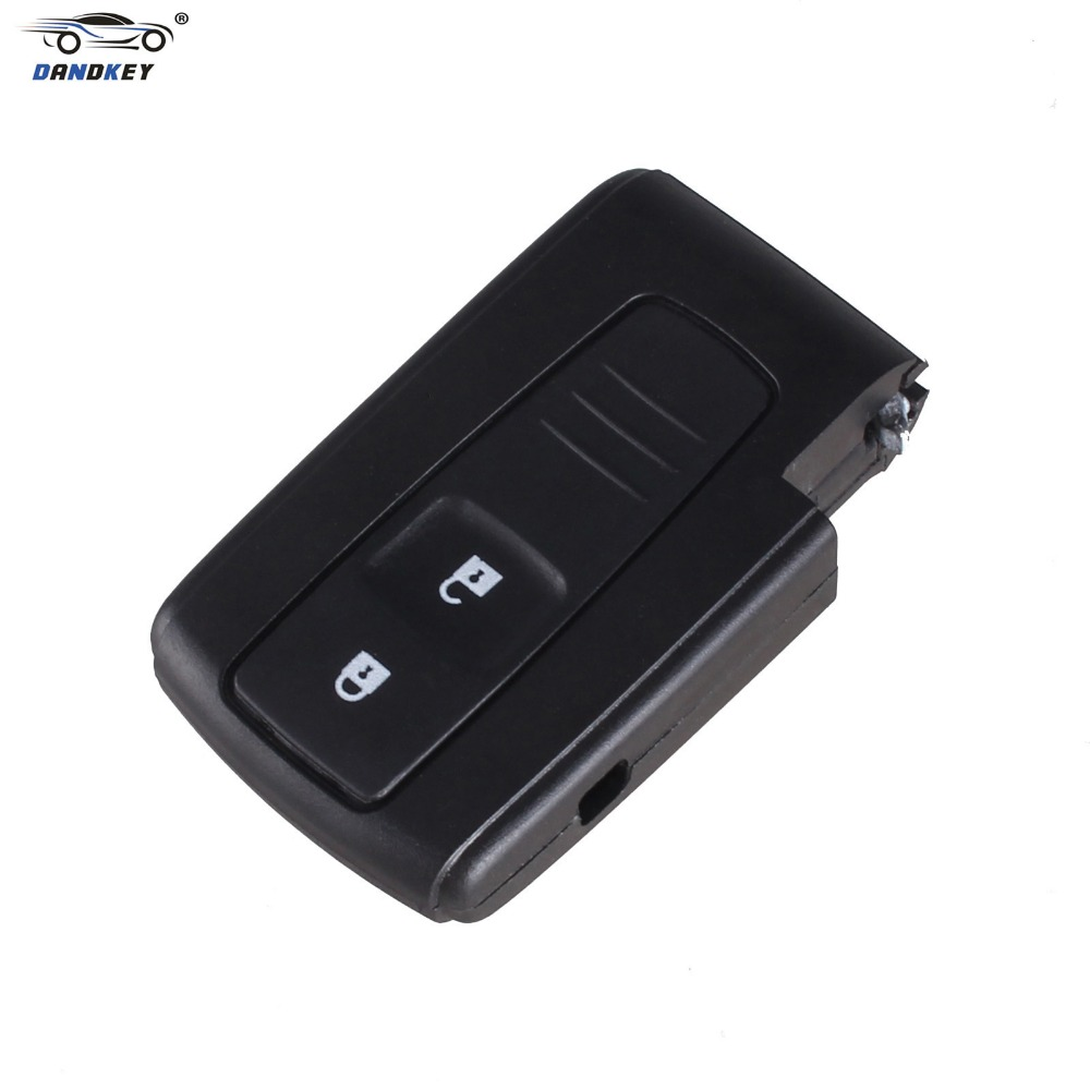 Dandkey for toyota prius fob 2 button smart remote key keyless case shell for toyota prius fob without entry key