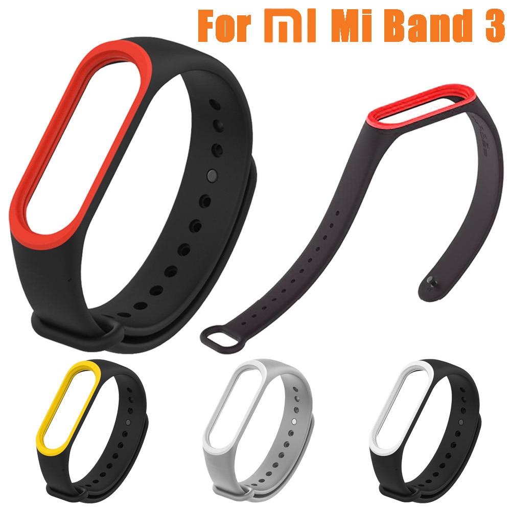 Sports Bracelet For Xiaomi Mi Band 3 Wrist Strap Soft Silicone Sport Watch Band Replacement Bracelet Strap l110#2
