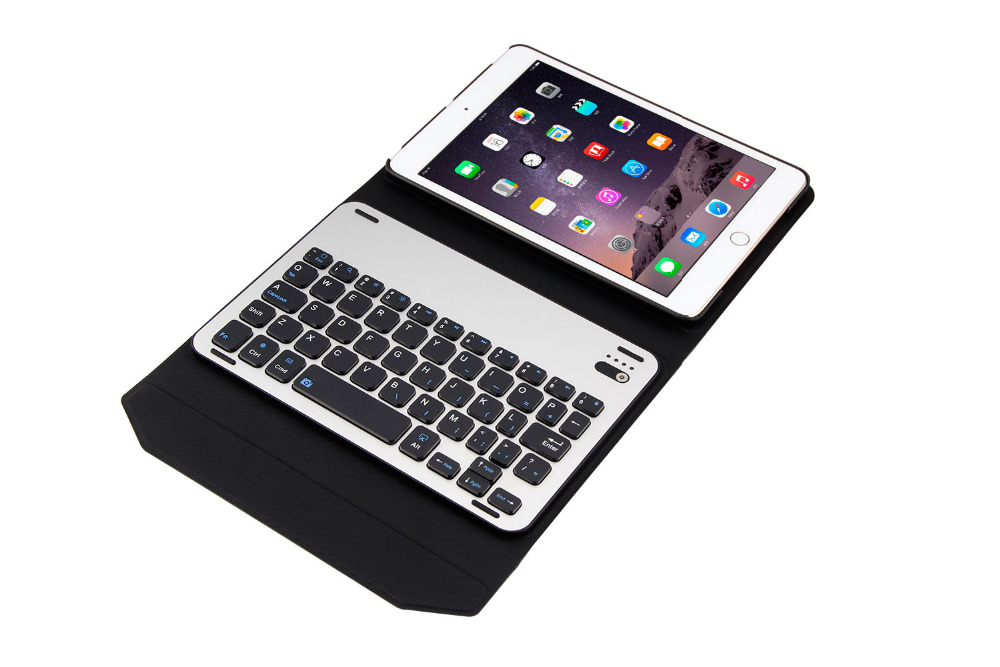 Aluminum Alloy Metal Removable Wireless Bluetooth 3.0 Keyboard Stand Leather Case Cover For Apple iPad Mini 1 2 3 7.9 inch Table new wireless bluetooth keyboard stand pu leather cover case for apple ipad mini 1 2 3 7 9 inch tablet