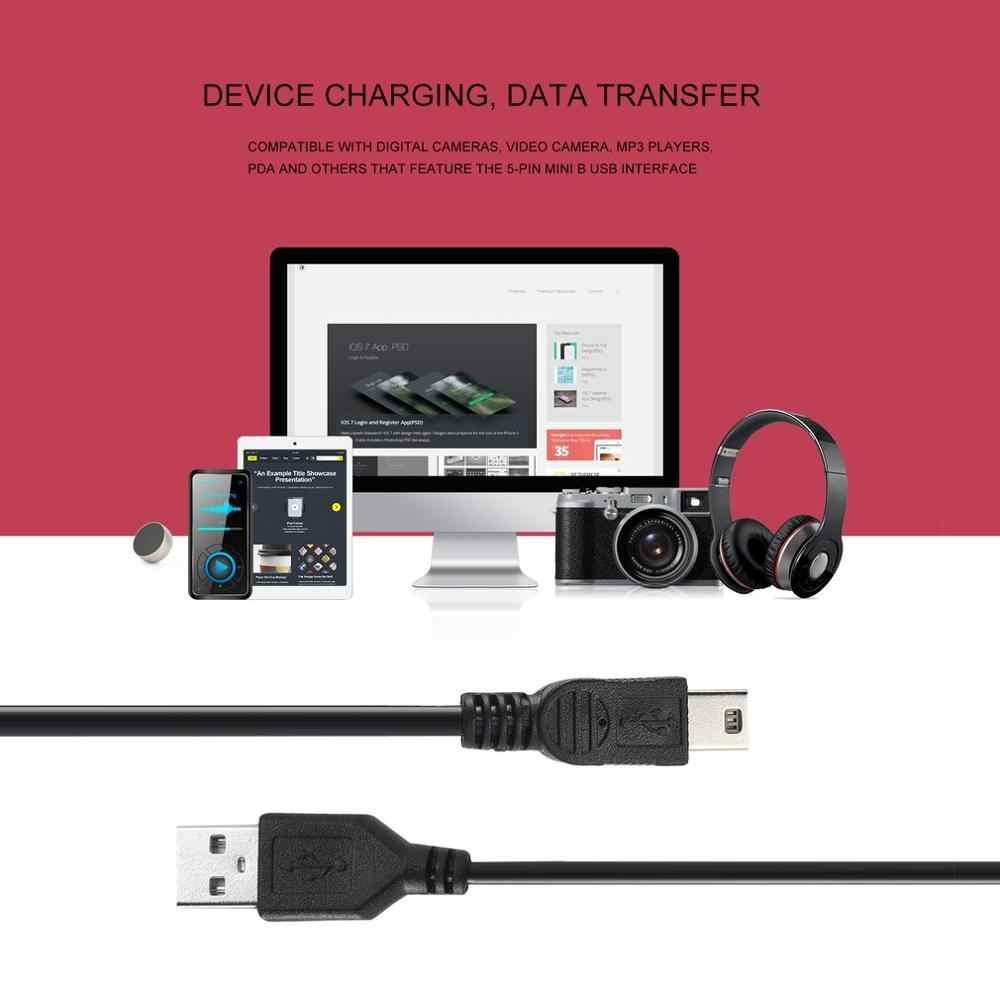 80 cm USB 2.0 męski od A do Mini B 5-pin kabel do ładowania dla kamery cyfrowe Hot-swap USB kabel do ładowania danych czarny