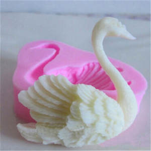 Cute Swan Form Silicone Fondant Soap 3D Cake Mold Cupcake Jelly Candy Chocolate Decoration Baking Tool