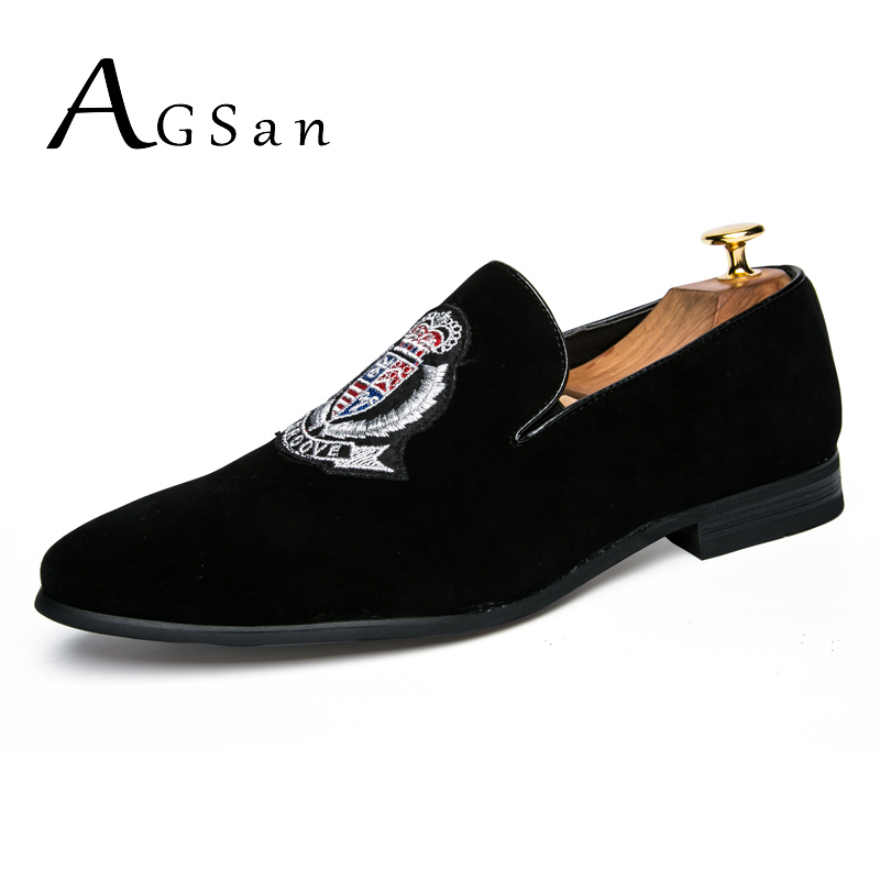 AGSan new style fashion men loafers black embroidery spring handmade men 2018 shoes luxury brand party and wedding dress shoes a three dimensional embroidery of flowers trees and fruits chinese embroidery handmade art design book