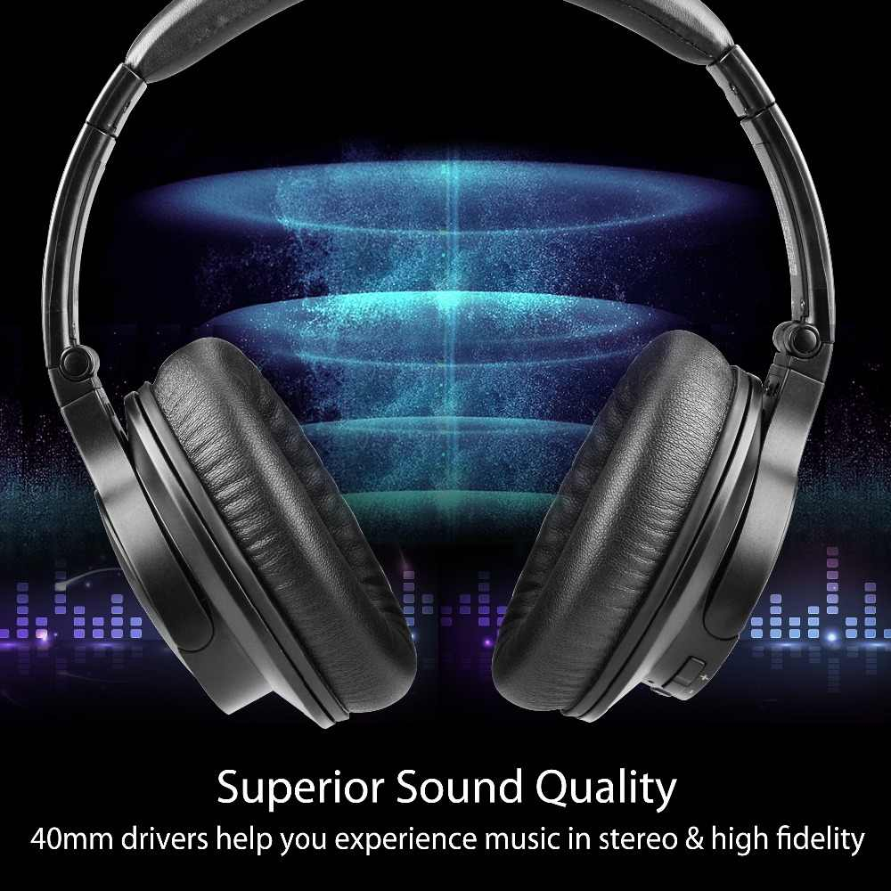 a266fbfb5f0 ... Avantree Super-Light Bluetooth Over Ear Headphones with Mic, Wireless/  Wired Stereo HI ...