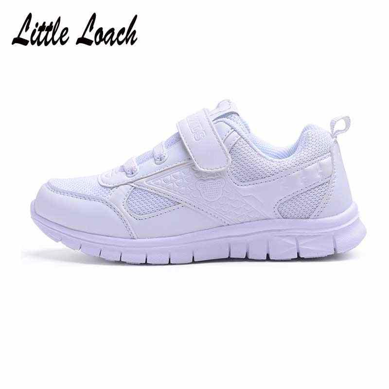 Genç Okul spor ayakkabılar Çocuk Eğitmenler Yürüyüş Koşu Işık Giyim-dayanıklı Tenis Sneakers Erkek Kız beyaz ayakkabı Boyutu 26-37