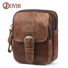 JOYIR 2019 Waist Packs For Men Zipper Mens Genuine Leather Hip Bag Travel Fanny Bags Pack Male Small Waists