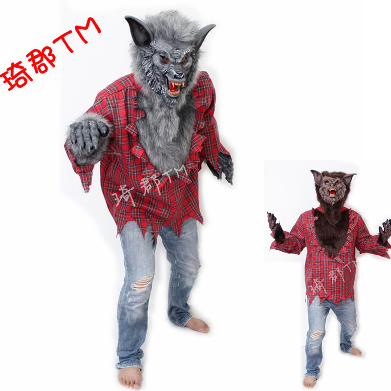cos clothing halloween costumes werewolves clothing the wolf clothes evil wolf clothing adult wolves suit - Halloween Costumes Wolf