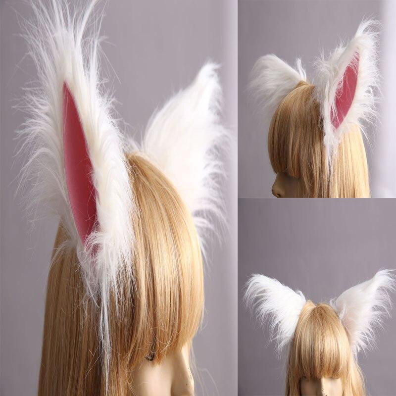 Inu x Boku SS Secret Service Cosplay Aessories Headwear Ears White Fox Ears Hair Accessories