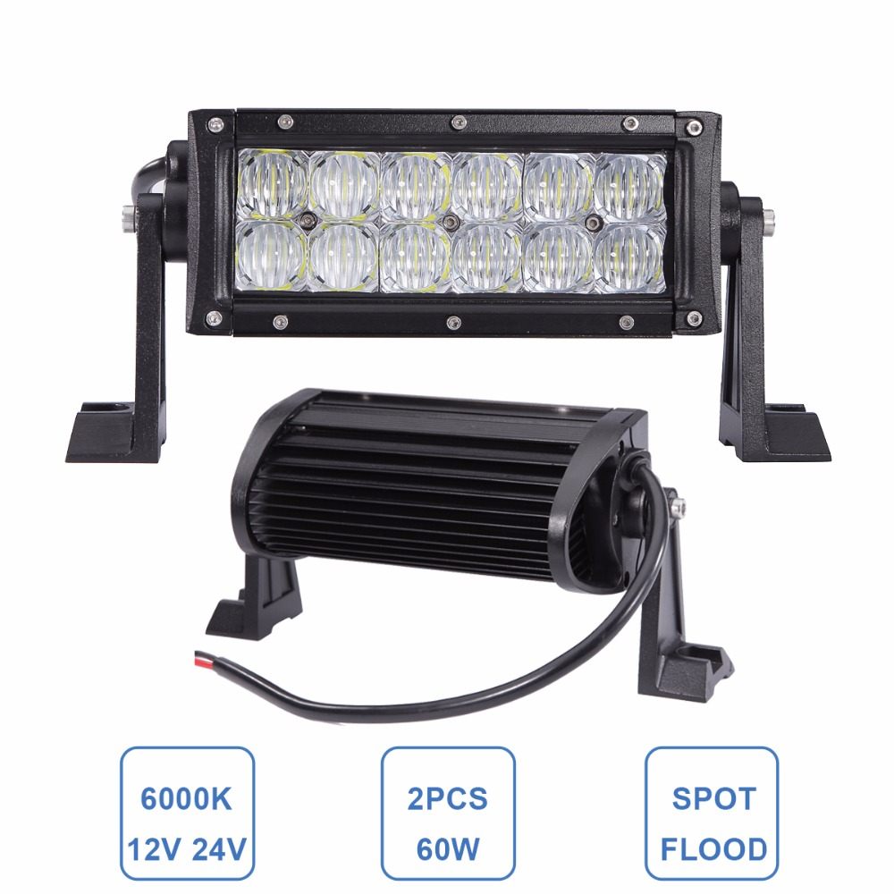 8 60W 5D LED WORK LIGHT BAR 12V 24V CAR TRUCK MOTORCYCLE ATV YACHT BOAT CAMPING WAGON TRAILER SUV 4X4 AWD TRUCK OFF ROAD LAMP