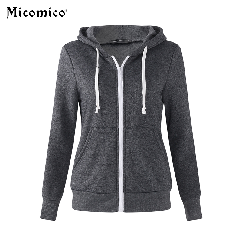 2018 Trendy Casual Zipper Solid Hoodies Women Autumn Winter Warm Thick Sweatshirt Long Sleeve Hoodie Tracksuit Plus Size S-5XL