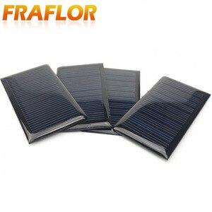 Image 2 - 10 قطعة/الوحدة الجملة 5 V 60mA الايبوكسي لوحة طاقة شمسية البسيطة الخلايا الشمسية الكريستالات السليكون الشمسية DIY الشمسية وحدة شحن مجاني