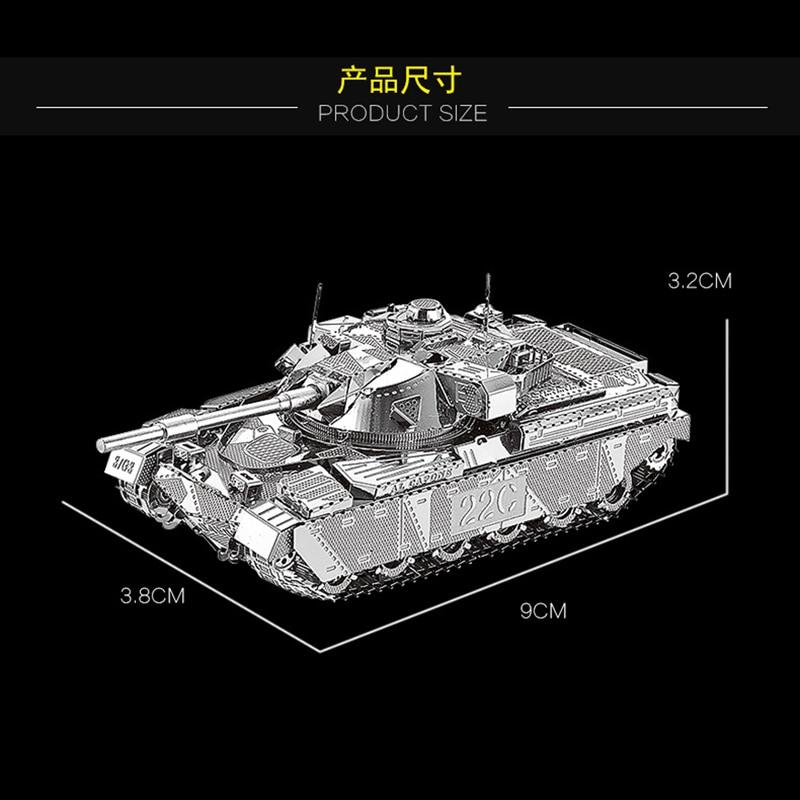 HK Nan yuan 3D Металл Puzzle Бас танкі MK50 Military - Ойындар мен басқатырғыштар - фото 4