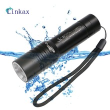 Diving Light XML T6 LED Dive Flashlight Zoomable Lamp Torch Underwater 10m Waterproof 18650 Battery Diver Torch Flashlight