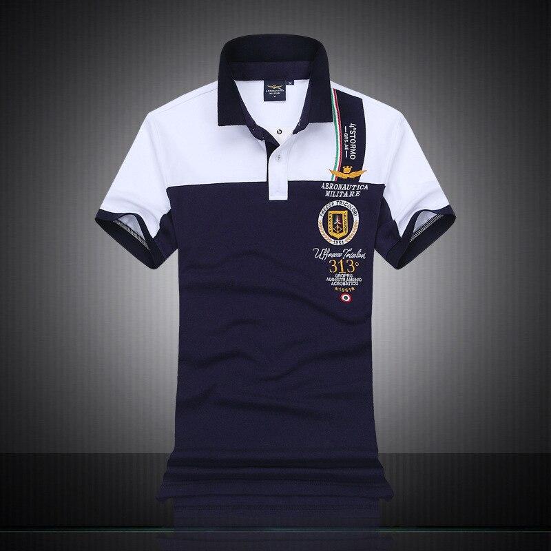 0ca5d584bc New 2018 Air Force one Top Quality Embroidery Men s Aeronautica Militare  Polo shirt Hombre Manga Corta