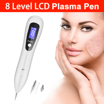 8 level LCD Laser Plasma Pen Remove tattoo/Mole Removal Face skin tag removal Freckle/Wart Dark Spot remover skin care machine   1