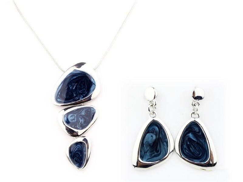 High Quality Enamel Jewelry Set AlloySnake Chain Necklaces Jewelry set Wholesale A0128