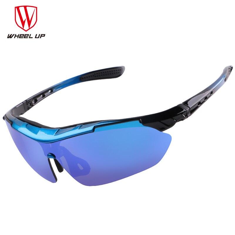 WHEEL UP UV400 Sport Sluneční brýle Muži Ženy Polarizované Cyklistické brýle Vodotěsné Celé Povlakování MTB Road Unikátní venkovní cyklistické brýle
