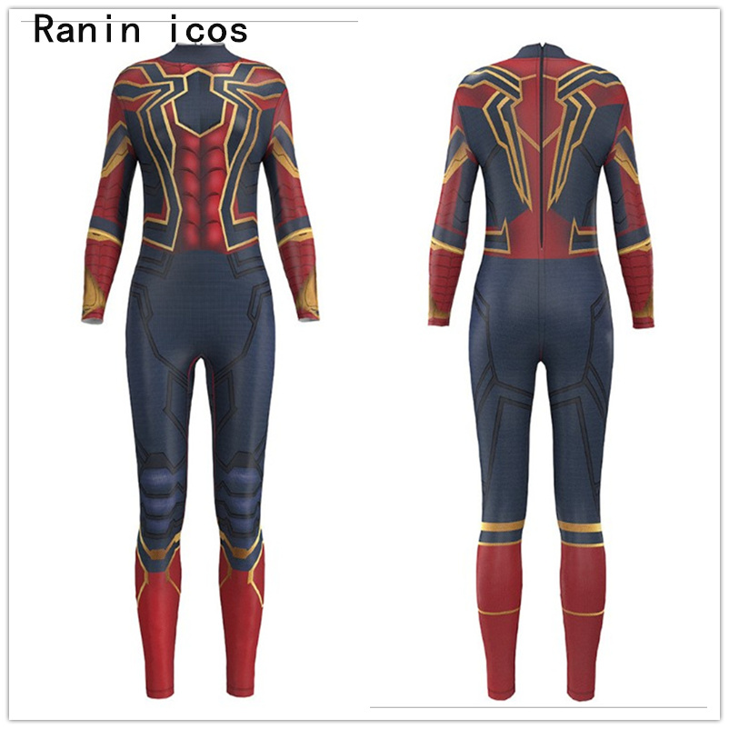 Spider Man Jumpsuit <font><b>Catsuit</b></font> <font><b>Sexy</b></font> Spiderman Cosplay Costumes Superhero Halloween Women Spandex <font><b>Lycra</b></font> Bodysuit Fancy Dress image