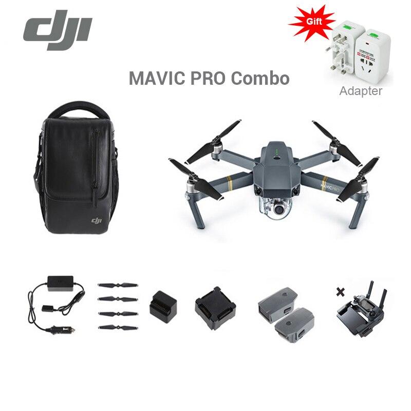 Prix pour En stock 2017 date d'origine DJI Mavic pro drone voler plus combo avec 4 K vidéo 1080 p caméra rc hélicoptère Livraison Gratuite