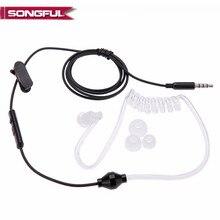 Акустическая защита от излучения наушники FBI Air Tube Handsfree наушники с микрофоном Регулятор громкости ушной крючок