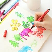Kawaii lindo 12/18/24 Colores Pluma de La Acuarela Plumas Agua Chalk Graffiti Herramientas de Pintura Para Niños Regalo envío envío libre 2522