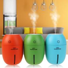 Mini 180ml  USB Lemon Ultrasonic Humidifier 3 colors Portable LED Light Air Purifier Mist Maker for Home Office Car DC 5 V