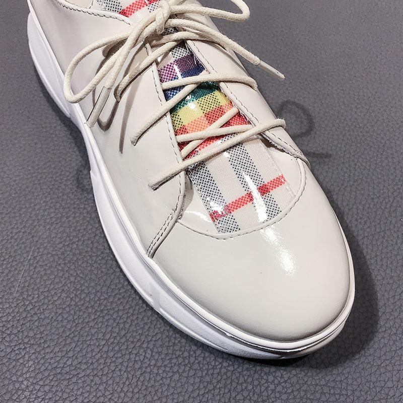 Cuero Deporte Zapatillas Moda Plataforma De Mujer Pisos La Deportivas Las Blanco Cuñas Marca Mujeres Zapatos Allbitefo Impermeables Tacón Genuino vIBqfR
