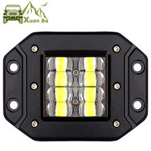 5 Inch 6D Lens Strobe Led Work Light For Flush Mount Jeep Car Truck Suv 4x4 Off Road Waterproof Flood Beam Work Driving Lights