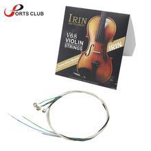 IRIN V68 Универсальный полный набор(E-A-D-G) скрипки Струны для скрипки стального сердечника никель-серебряная рана для 4/4 3/4 1/2 1/4 скрипки