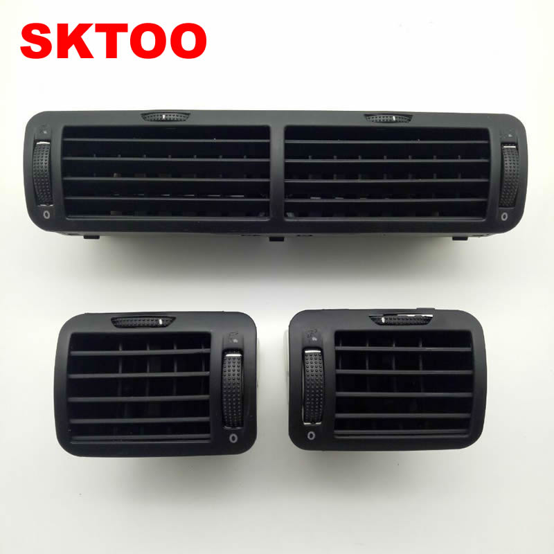 SKTOO 3PCS/Set Air Outlet For VW Passat B5 Instrument Air Outlet Central Air-conditioning Air Outlet