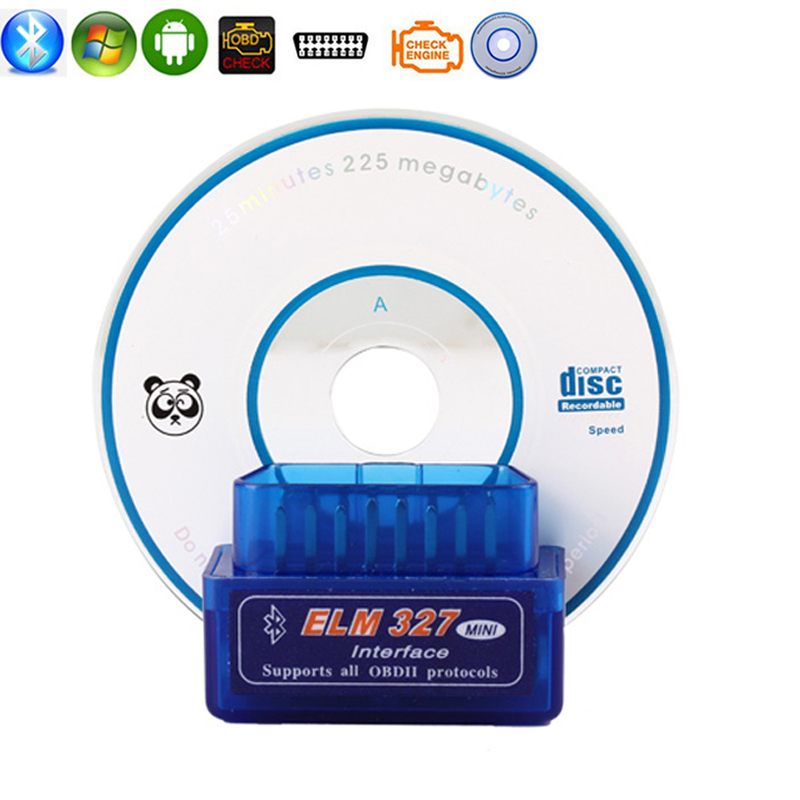 KWOKKER OBD2 Wireless V1.5 Super Mini <font><b>ELM327</b></font> <font><b>Bluetooth</b></font> Interface Car Scanner Diagnostic Tool ELM 327 For Android Torque Windows image