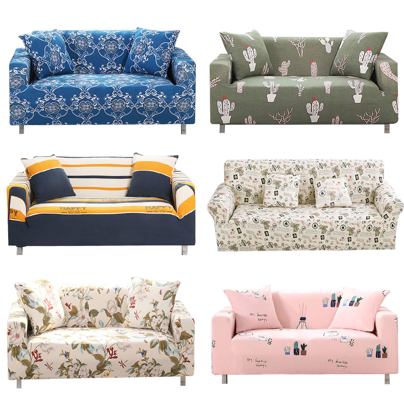 1pcs Flower Leaf Pattern Soft Stretch Sofa Cover Home Decor Spandex Furniture Covers Decoration covering Hotel Slipcover 008
