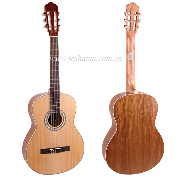 Good quality 39 inch Acoustic Classical guitar With Spruce Top/Walnut Body +Hard case,Classical guitar for beginner Nature matt