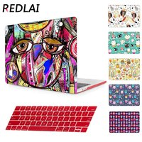 Unique Cute Owl Flower Cover Shell For Print Case Macbook Air 11 13 Mac Book Pro