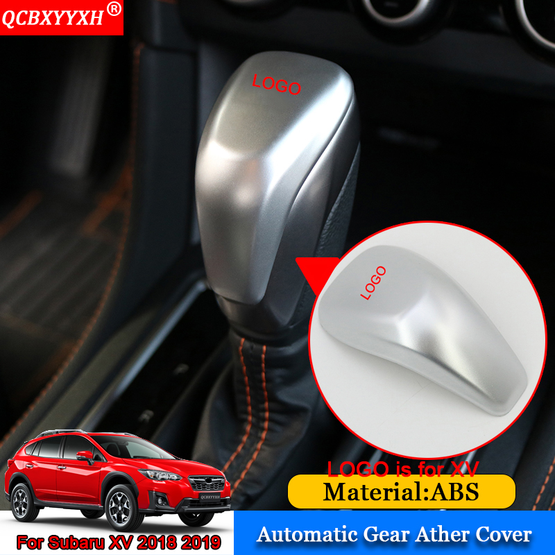 QCBXYYXH Car-styling Car Automatic Gear Ather Cover Stickers Interior Frame Decoration Accessories For Subaru XV Impraza 2018
